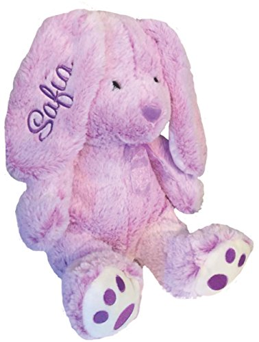 Personalized Plush Bunny-14 inches Tall- Stuffed Animal-Easter or Gift (Purple)