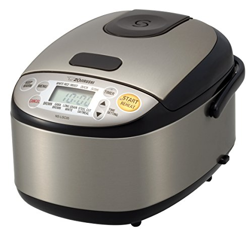 Zojirushi NS-LGC05XB Micom Rice Cooker & Warmer, 3-Cups (uncooked), Stainless Black (Japanese Small Cooker Rice)