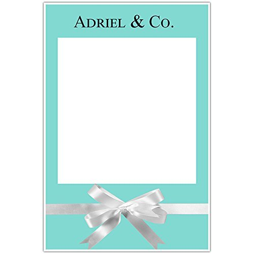 Blue with Bow Selfie Frame Social Media Photo Prop Poster