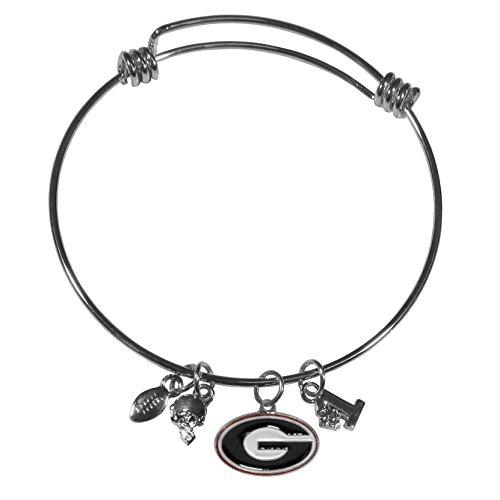 Georgia Bulldogs Bracelets - Siskiyou NCAA Georgia Bulldogs Charm Bangle Bracelet
