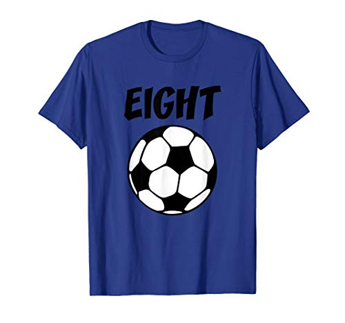 8 Year Old Soccer Birthday Party 8th Birthday T-Shirt