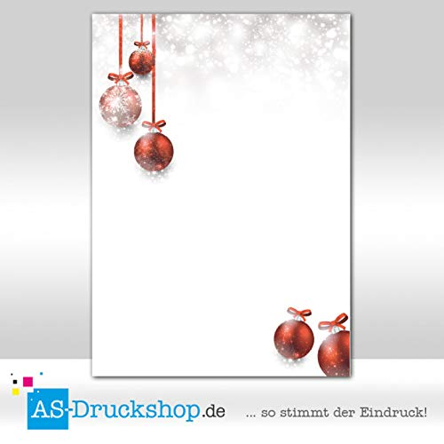 Design Paper Christmas Tree Bauble 100 Sheets DIN A4 90 g Offset Paper (Baubles Tree Christmas)