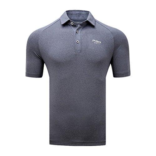 Kayiyasu ポロシャツ メンズ ゴルフウェア UVカット ゴルフシャツ オシャレ スポーツシャツ 男性用 半袖 Tシャツ 運動着 日焼け止め 021-xsty-yf135(XL グレー)