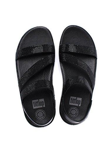 Sandalo Fitflop Crystall Z-strap, Nero E24-001 Nero