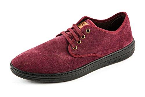 Natural World - Zapatos de cordones de Piel para hombre Rojo rojo 41