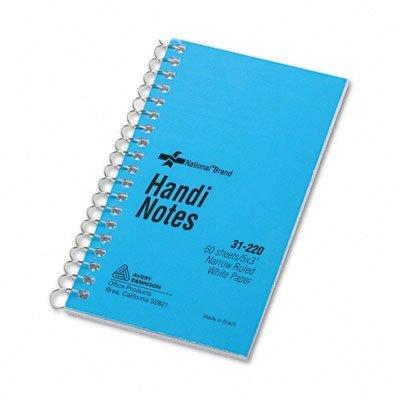 Narrow Rule 3 x 5 White 60 Sheets/Pad (Single Wirebound Memo Book)