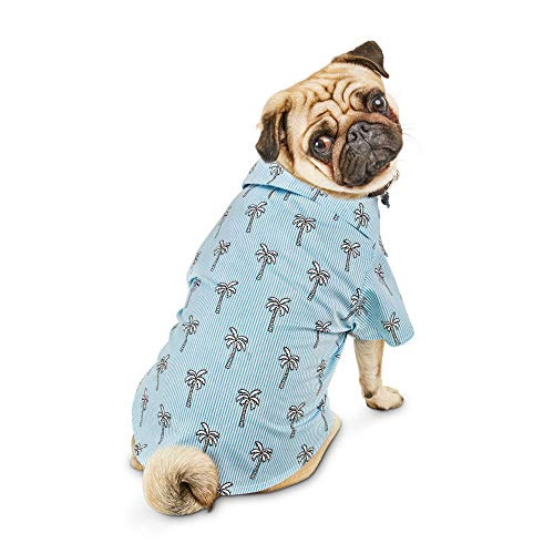 Bond & Co. Blue Poplin Resort Dog Shirt, - Embellishments Collection Fabric