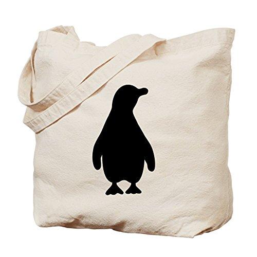 CafePress diseño de silueta de pingüino–Gamuza de bolsa de lona bolsa, bolsa de la compra