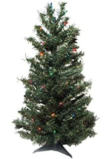 Amazon.com: Pre-Lit Fiber Optic 7' Artificial Christmas Tree LED ...