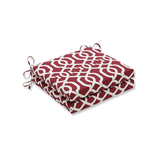 Pillow Perfect Outdoor Indoor New Geo Red Squared Corners Seat Cushion 20x20x3 Set of 2