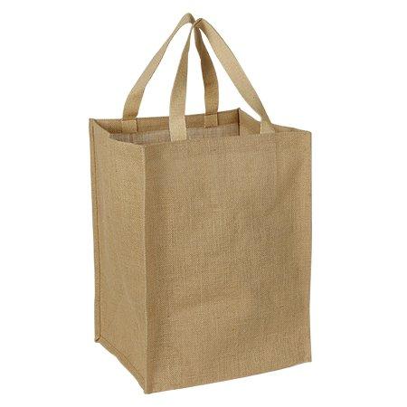 自然ジュート黄麻布Grocery Bag with Cotton Webbedハンドルサイズ11