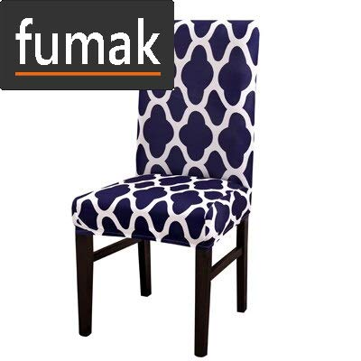 fumak Chair Slipcover - Chair Cover Spandex Removable Big Elastic Slipcover Modern Kitchen Seat Case Stretch Chair Cover for Banquet housse Chairs 1pcs (2) (Papasan Chair Slipcover)