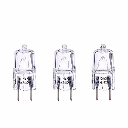 TinyLighting 3pack G8 20W Halogen Lamp Bulb Replacement for GE Microwave Oven WB36X10213