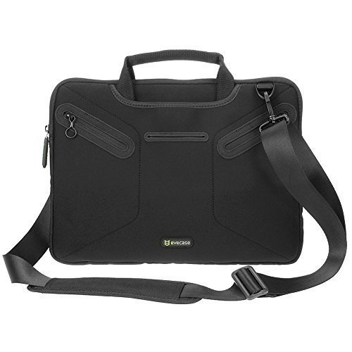 Price comparison product image Evecase Multi-functional Carrying Messenger Case with Handle and Shoulder Strap for 12.5 - 13.3 inch Laptops - Black