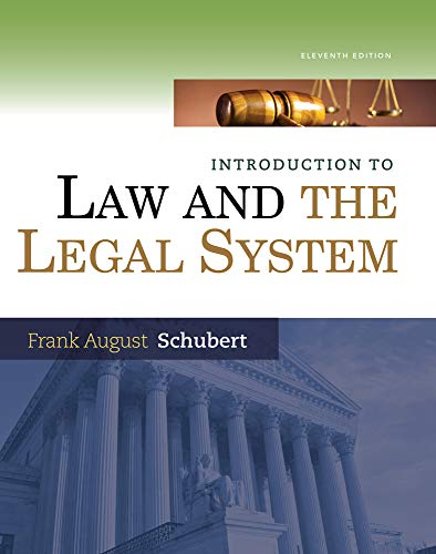 Introduction to Law and the Legal System -
