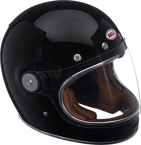 Bell Bullitt Full-Face Motorcycle Helmet (Solid Gloss Black, Large) Domain Cheek Pads