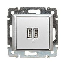 Legrand valena - Base 2xusb 1550ma 5v aluminio
