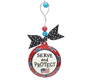 Amazon.com: Serve and Protect Christmas Tree Ornament Gift ...