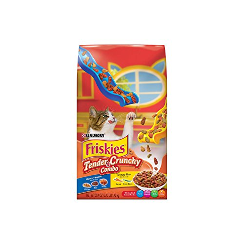 Friskies Dry Cat Food, Tender & Crunchy Combo, 3.15-Pound Ba