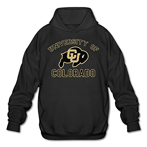 Colorado Boulder - ElishaJ Men's Hoodies University Of Colorado Boulder Black Size L