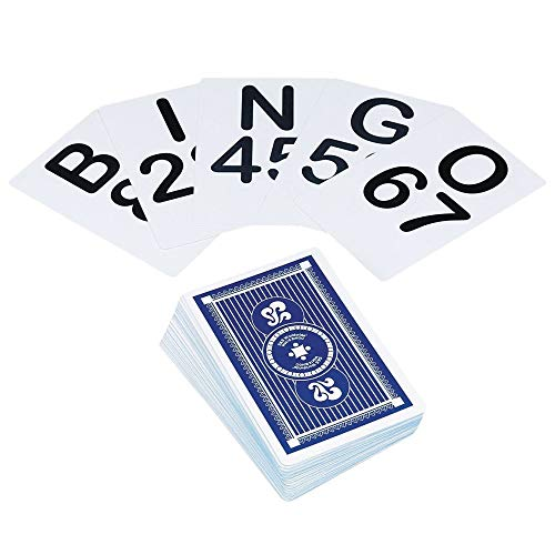 S&S Worldwide LYSB0030NFONM-SPRTSEQIP Jumbo Bingo Calling Cards (Pack of 75)