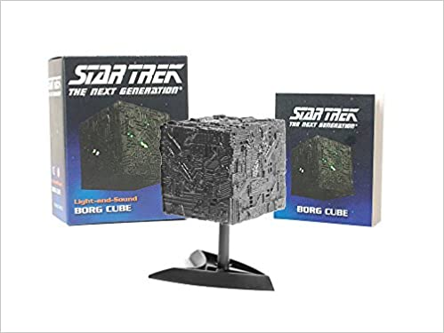 star trek light and sound borg cube miniature editions