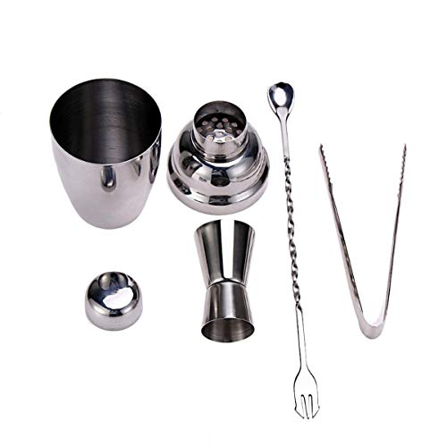 2TRIDENTS 4Pcs Stainless Steel 8.45 OZ Cocktail Shaker - Perfect Home Bartending Kit - Great For Home Bars And Parties -