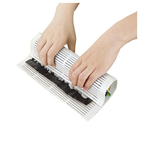 LALANG White Plastic Sushi Mat Tool Rice Roller Rolling Maker