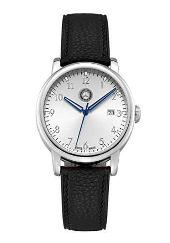 Mercedes Benz Men's Black Calfskin Leather Classic Watch