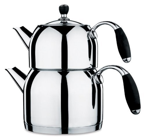 Korkmaz Flora Maxi Capsulated Turkish Tea Pot Set With Tempe
