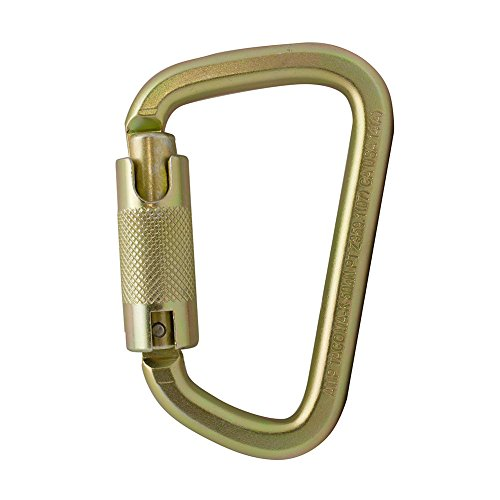 Fusion Climb Tacoma Steel Auto Lock with Key Nose Modified D-shaped Carabiner by Fusion Climb