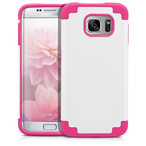 Shockproof Armor Case for Samsung Galaxy S7 Edge (White) - 7