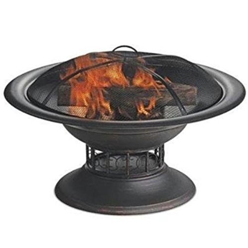 Blue Rhino WAD15129MT Brushed Copper Wood Burning Outdoor Firebowl, 32 in. Dia. /RM#G4H4E54 E4R46T32522226 ()