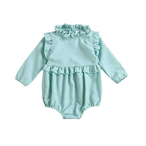 Fartido Baby Girls Long Sleeve Frill Romper Infant Jumpsuit Outfit Clothes (3-6Months)]()