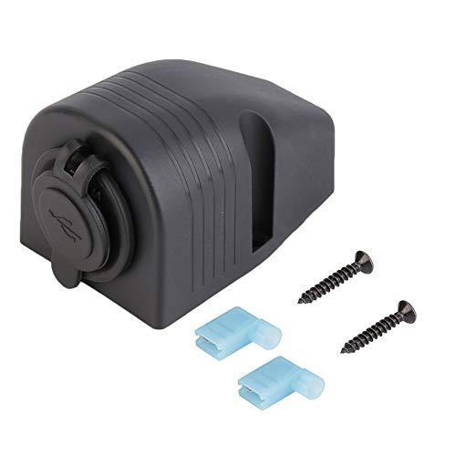 Pudincoco Universal 5V Dual USB Car Moto Cigarrillo Encendedor Socket Splitter Cargador Adaptador de corriente Cargador de...