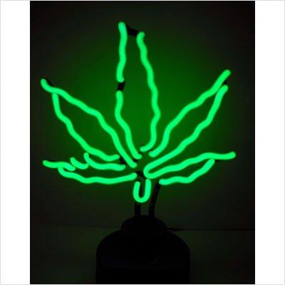 Leaf Lighted Pot Rack - Neonetics Pot Leaf Neon Sculpture