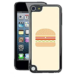 A-type Arte & diseño plástico duro Fundas Cover Cubre Hard Case Cover para Apple iPod Touch 5 (Burger Hamburger Fast Food Minimalist)