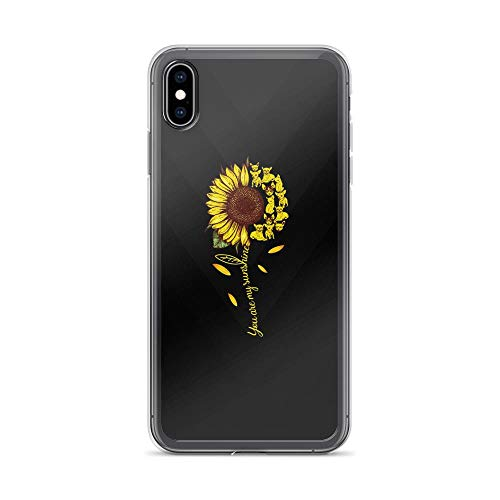 Compatible for iPhone Xs Max You are My Sunshine - Cute Dogs TPU Full Protective Slim Cover