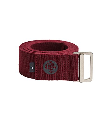Manduka Align Yoga Strap - Strong, Durable Cotton Webbing with Adjustable Buckle for Secure, Slip-Free Support for Stretching, Yoga, Pilates and General Fitness.
