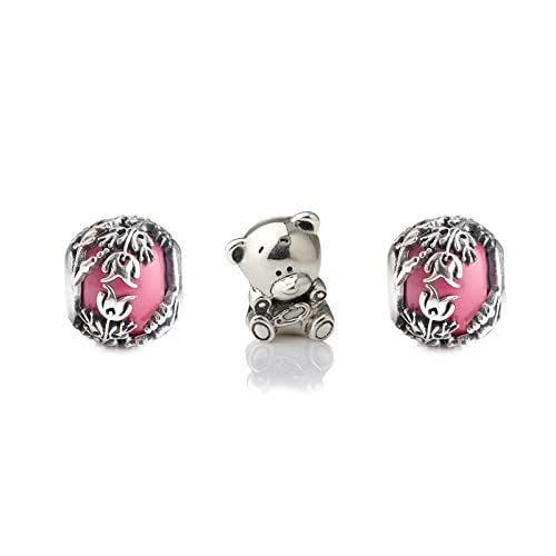 Baby Gifts Jewellers : Blue or pink gift charm set of charms s