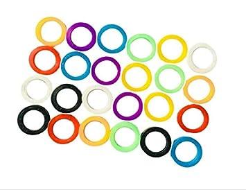 Jeu de cl/és de couleur Porte-cl/és R/ésilience Bague didentification /élastique