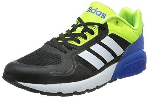 adidas Run9tis Tm, Zapatillas de Deporte Exterior para Hombre Negro / Blanco / Amarillo (Negbas / Ftwbla / Amasol)