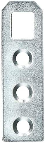 KOTARBAU Schrankaufhänger 50 x 15 x 1,0 mm Ver.Formen Schrankaufhängung Möbelaufhänger Bettbeschlag Verzinkt Möbelaufhängung Silber Flachverbinder (1)