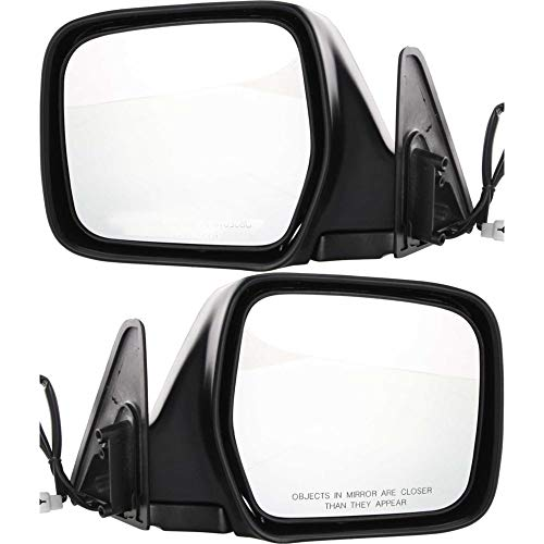 Power Mirror compatible with Toyota Land Cruiser 91-97 Right and Left Side Manual Folding Non-Heated Paintable