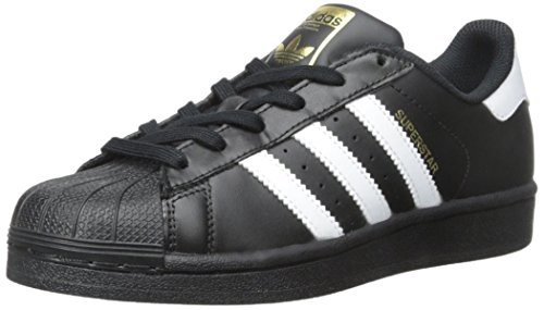 adidas Originals Superstar Foundation J Casual Basketball-Inspired Low-Cut Sneaker (Big Kid),Black/White/Black,4 M US Big Kid (Adidas Star)