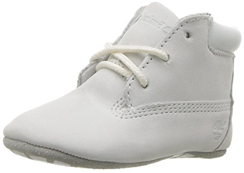(Timberland Baby Crib Bootie with Hat Ankle Boot, White Nubuck, 2 Medium US Infant)