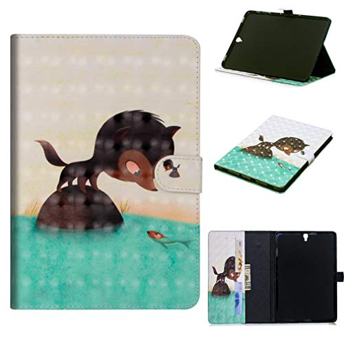 7 Tab Thin Pattern T815 Slot Inch Bookstyle Pu Magnetic Samsung Closure For S2 Smart Little Cover t810 Foldable Ultra Lmfulm Card T813 With Case Leather 4 Of Cat Sm Color Sl Auto Galaxy 9 Wake BPISaq