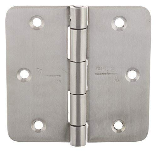 (3 Pieces Stainless Steel Screen Door Hinges PIN Lock TECNIC 3.5'' X 3.5'' Satin Finish 353525RS-SP-32D 1/4 Radius Heavy Duty Design Suitable for All Types of Door SSiSKCON)