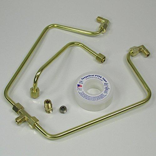 OLD-STF - Brass Rocker Box Split Oil Line for 1966-1984 Harley Shovelheads - MADE IN THE USA - Motorcycle Chopper Bobber Custom Cafe Racer (Billet Box Rocker)