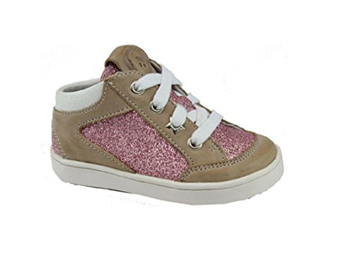Braqeez Mädchen Sneaker Leder Beige Gr. 24